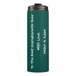 Best Grandparents Ever Cool Thoughtful Turquoise Thermal Tumbler