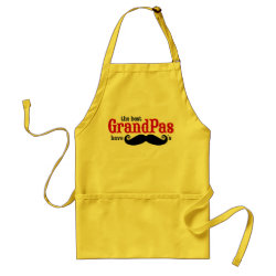 Apron with Best Grandpas Have Mustaches design