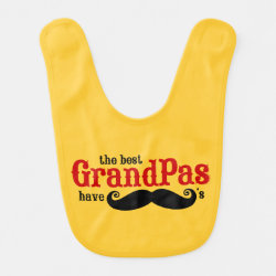 Baby Bib with Best Grandpas Have Mustaches design
