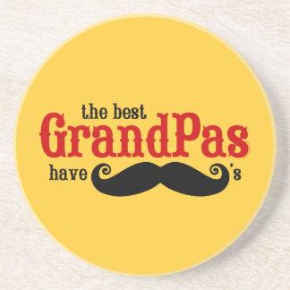 Best Grandpas Have Mustaches Coaster