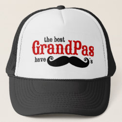 Trucker Hat with Best Grandpas Have Mustaches design