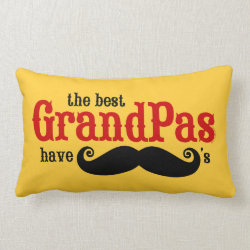 Throw Pillow Lumbar 13' x 21' with Best Grandpas Have Mustaches design
