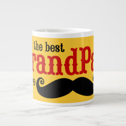 Jumbo Mug with Best Grandpas Have Mustaches design
