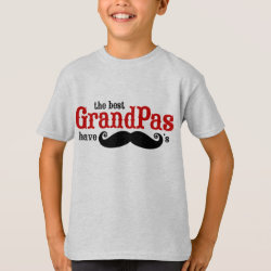 Kids' Hanes TAGLESS® T-Shirt with Best Grandpas Have Mustaches design