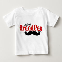 Baby Fine Jersey T-Shirt with Best Grandpas Have Mustaches design