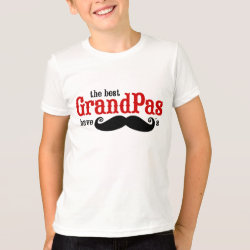 Kids' American Apparel Fine Jersey T-Shirt with Best Grandpas Have Mustaches design
