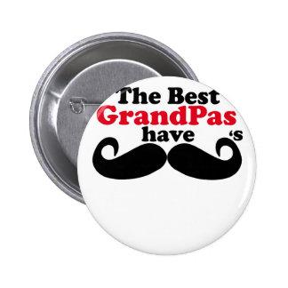 Best Grandpas Have Mustaches T-Shirt k.png Pinback Buttons
