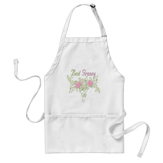 Best Granny Swirling Hearts Adult Apron