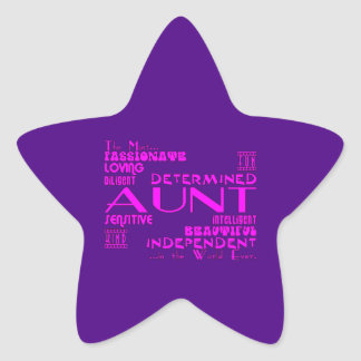 Best & Greastest Aunties & Aunts : Qualities Star Sticker