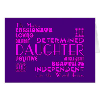 Best & Greastest Daughters Birthdays : Qualities Card
