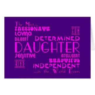 Best & Greastest Daughters Birthdays : Qualities Greeting Card