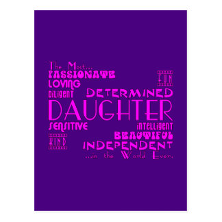 Best & Greastest Daughters Birthdays : Qualities Post Cards