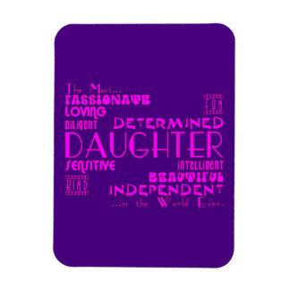 Best Greastest Daughters Birthdays Qualities Rectangular Magnets