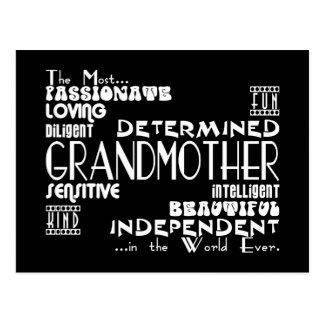 Best & Greastest Grandmothers & Grandmas Qualities Postcard