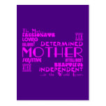 Best & Greastest Mothers & Moms : Qualities Post Cards