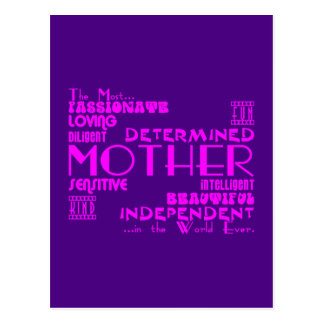 Best & Greastest Mothers & Moms : Qualities Postcard