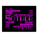 Best & Greastest Mothers & Moms : Qualities Postcards