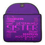 Best & Greastest Sisters Birthdays : Qualities MacBook Pro Sleeve
