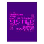 Best & Greastest Sisters Birthdays : Qualities Postcards