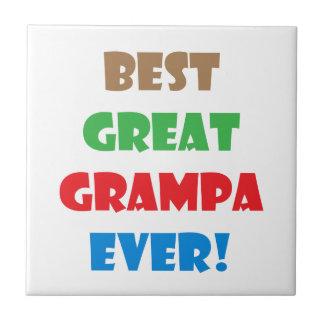 Best great grampa ever tile