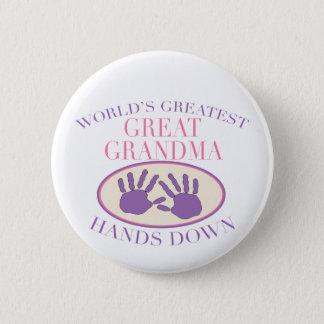 Best Great Grandma Hands Down T-shirt Button