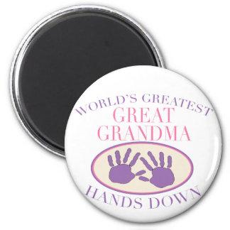 Best Great Grandma Hands Down T-shirt Magnet