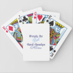"Best Great-Grandpa Bicycle Playing Cards<br><div class=""desc"">A touch of elegance in the scroll and lettering styles make this a design uniquely fitting for a great grandma.  We love it as print art in a hand made frame!</div>"