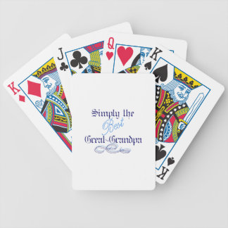 Best Great-Grandpa Bicycle Playing Cards