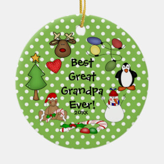 Best Great Grandpa Ever Christmas Ornament