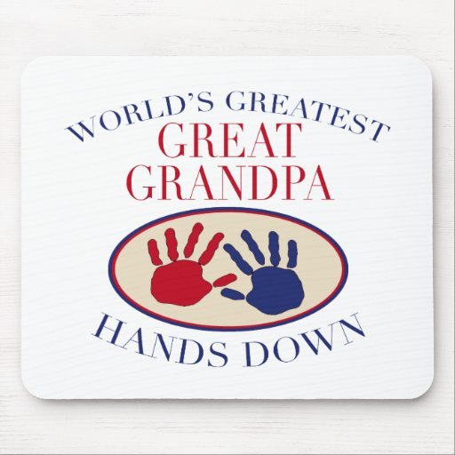 Best Great Grandpa Hands Down Mouse Pads