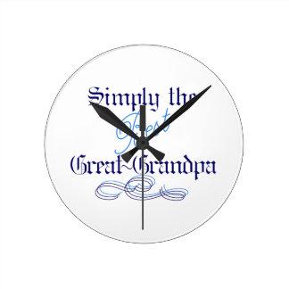 Best Great-Grandpa Round Clock