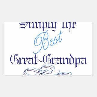 Best Great-Grandpa Rectangular Sticker
