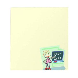 Best Greatest Female Teacher Cute Female Design Memo Pad