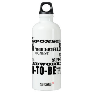 Best Greatest Future Fathers Dads to Be Qualities Aluminum Water Bottle