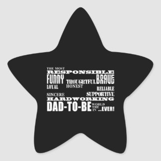 Best Greatest Future Fathers Dads to Be Qualities Star Sticker