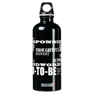 Best Greatest Future Fathers Dads to Be Qualities Water Bottle
