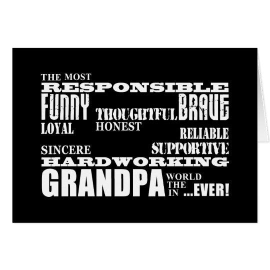Best & Greatest Grandfathers & Grandpas Qualities Card