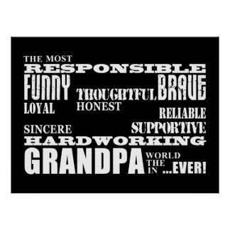 Best & Greatest Grandfathers & Grandpas Qualities Poster