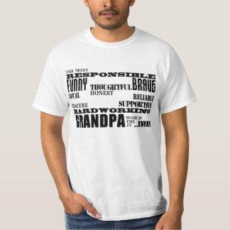 Best & Greatest Grandfathers & Grandpas Qualities T-Shirt