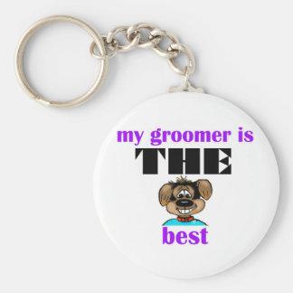 Best Groomer Basic Round Button Keychain