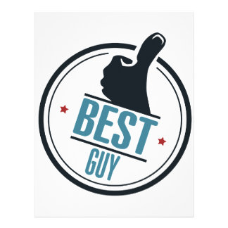 Best guy thumb up label letterhead