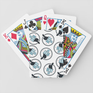 Best-guy-thumb-up-label-pattern-blue-black Bicycle Playing Cards