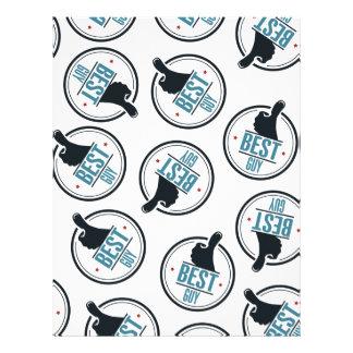 Best-guy-thumb-up-label-pattern-blue-black Letterhead