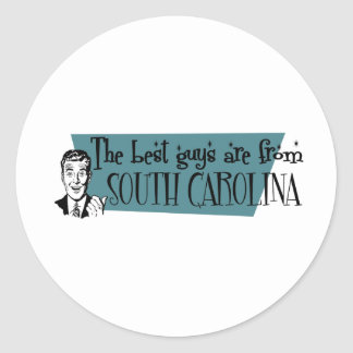 Best Guys are from South Carolina Classic Round Sticker