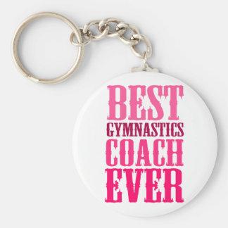 Best Gymnastics Coach Ever Basic Round Button Keychain