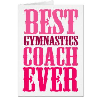 Best Gymnastics Coach Ever Card