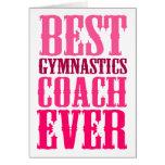 Best Gymnastics Coach Ever Greeting Card