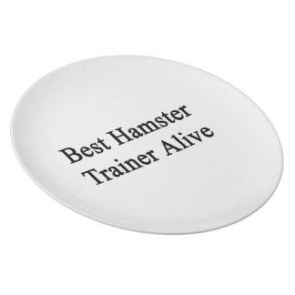 Best Hamster Trainer Alive Dinner Plate