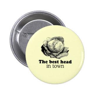 BEST HEAD IN TOWN PINBACK BUTTON
