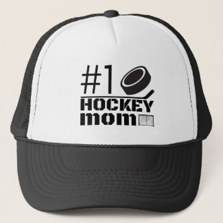 Best Hockey Goalie Mom cap hat number one black